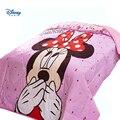 Милое одеяло с Минни Маус для девочек  Двухслойное покрывало для кровати  полный размер королевы  летнее стеганое одеяло  100% хлопок  тонкое о...