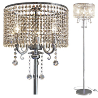 Continental moderno romântico led cabeceira loja sala de estar k9 cristal quarto simples europeu lâmpada assoalho