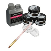 Nail Beauty Art Kit Acrylic Liquid Crystal Dappen Powder Brush Pen Dish DIY Set