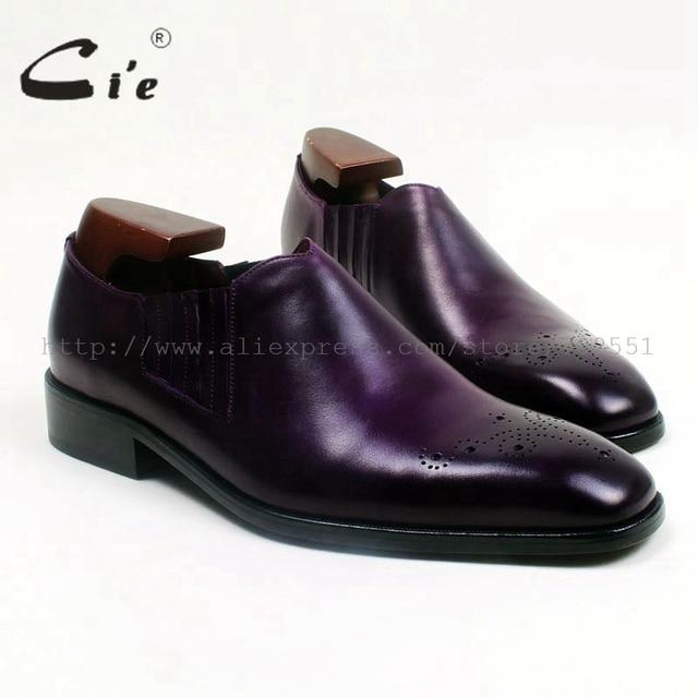 Cie karree medaillon benutzerdefinierte handmade männer lederschuh 100% echte kalbsleder sohle herren slip-on lila patina loafer101