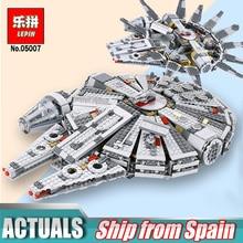 Caliente educativos 05007 Star Series fuerza despierta edificio del milenio halcón bloques Compatible Legoingly 75105 niños educativos Wars Juguetes