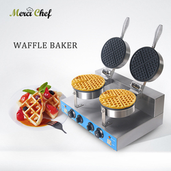 ITOP 2000W commercial electric Chinese Hong Kong eggettes puff cake waffle iron maker machine bubble egg cake oven 220V  WF-2