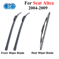 High Quality Silicone Rubber Front And Rear Wiper Blade For Seat Altea 2004 2005 2006 2007