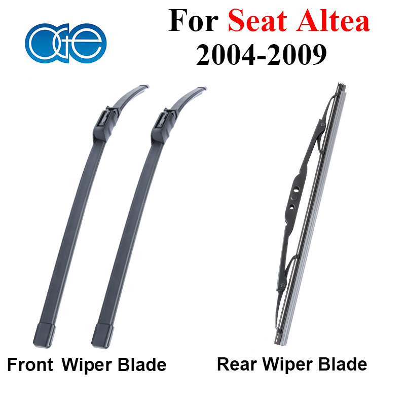 все цены на High Quality Silicone Rubber Front And Rear Wiper Blade For Seat Altea 2004 2005 2006 2007 2008 2009 Windscreen Car Accessories онлайн