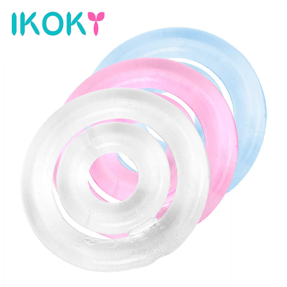 Эластичное силиконовое кольцо на пенис широкое