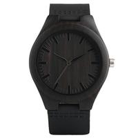 Creative Wooden Watch 10pcs Lot Minimalist Clock Bamboo Genuine Leather Fashion Men Women Male Female Reloj