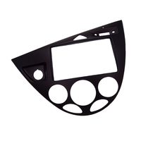 2 Din Car Stereo Trim Mount Bezel Frame Kit in Dash for 2006 Ford Fiesta Focus European LHD Refitting Panel Plate