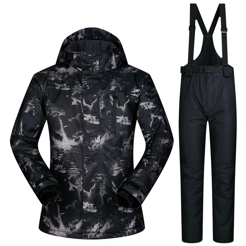 Ski Suit Men New Windproof Waterproof Clothes Ski Jacket and Pants Snow Sets Winter Brands Skiing