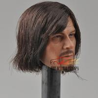 Figure Club Daryl Dixon A Dead alive Person Darryl Male Head Hair Version Action Figure Model
