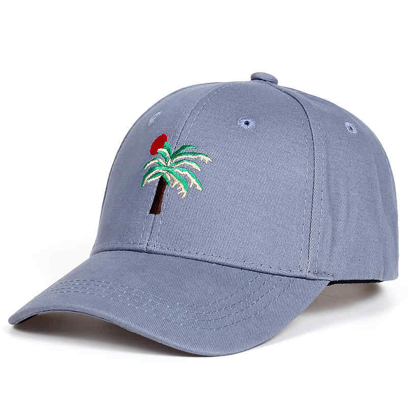 71f5e8899 2017 New Adjustable Embroidery Palm Trees Curved Dad Snapback Hats Baseball  Cap Coconut Trees Hat Bone Strapback Hip Hop Cap