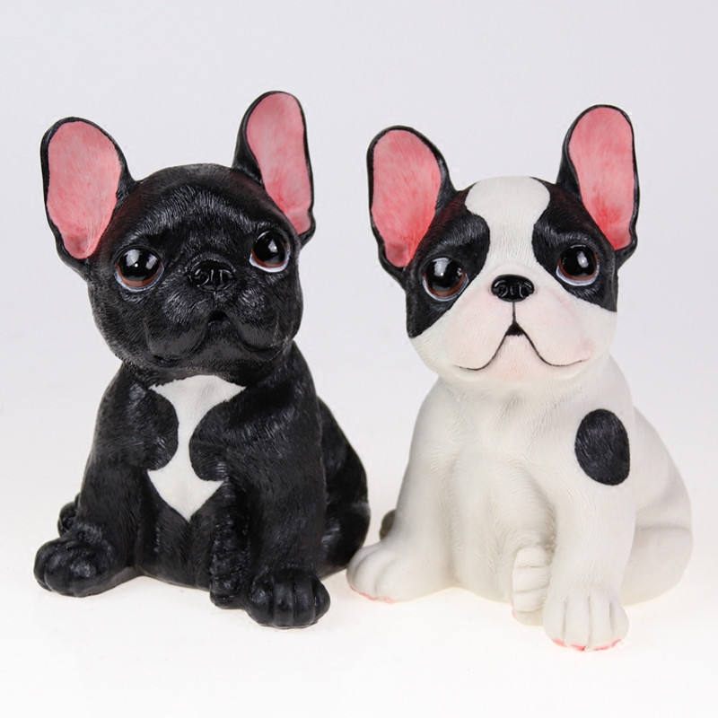 French Bulldog Statue Simulation Animal Cute Dog Home Decoration Accessories For Living Room L3016