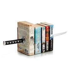 Magnetic Katana Bookends With Hidden Brackets Ninja Optical Illusion Movies Geek Pop Culture Book Shelf book Rack