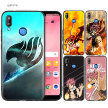 Silicone Case Cover for Huawei P20 P10 P9 P8 Lite Pro 2017 P Smart+ 2019 Nova 3i 3E Phone Cases fairy tail Anime стоимость