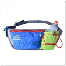 Outdoor Multifunction Reflective Running Waist Bag Water Bottle Holder Belt Men Women Sport Fanny Pack