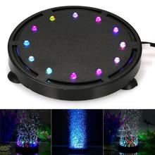Aquarium Led Lighting Submersible LED Air Bubble Light Colorful Decoration for Aquarium Fish Tank Lamp Decor EU Plug