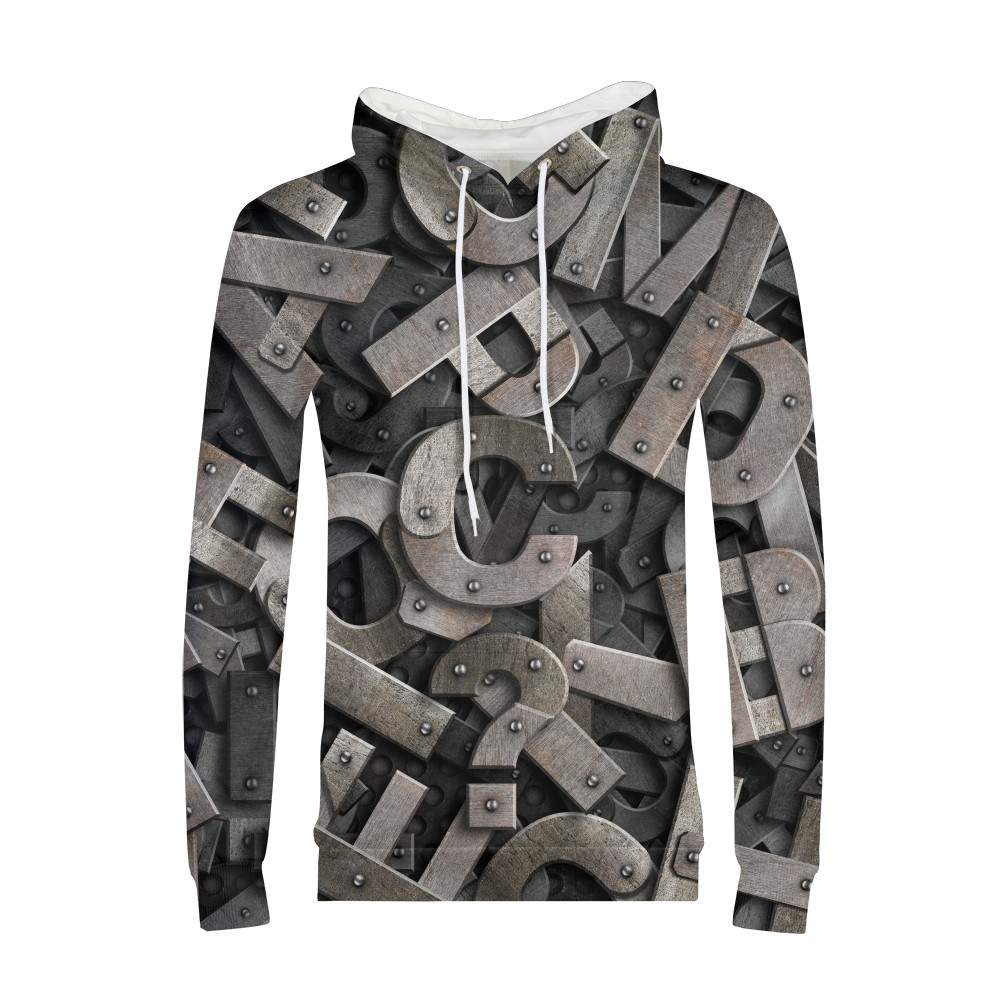 Hip Pop Brand Embossed Letters 3d Sweatshirt Men Long Sleeve Hoodies Boy Male Cheese Hamster Funny Animal Print Autumn Clothes