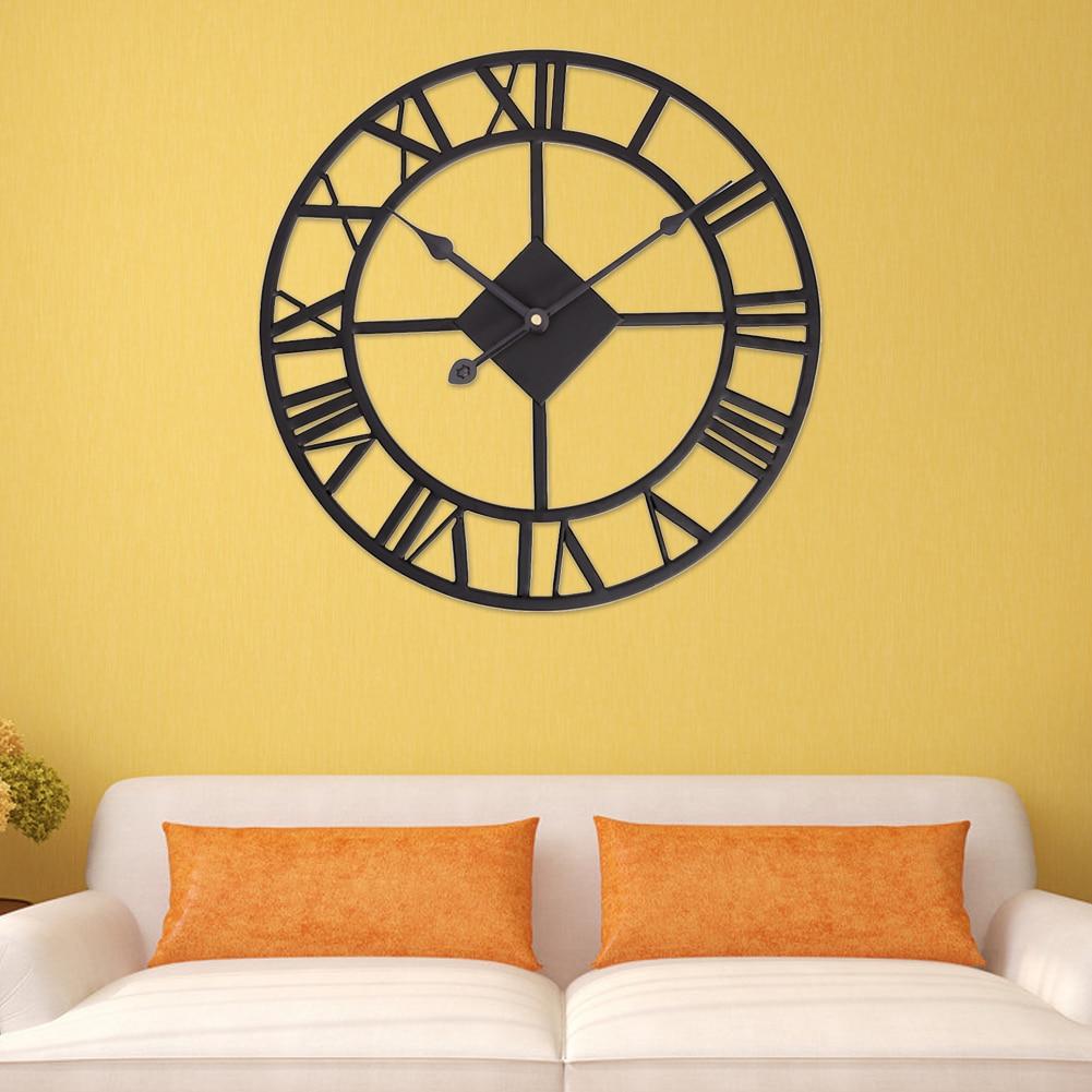Aliexpress.com : Buy Traditional Wall Clock Black Vintage Iron Home ...