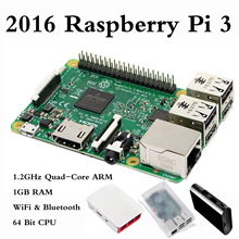 Buy 2016 Original Hot Raspberry Pi 3 Model B 1GB RAM Quad Core 1.2GHz 64bit CPU WiFi & Bluetooth Third Gen Raspberry Pi With Case