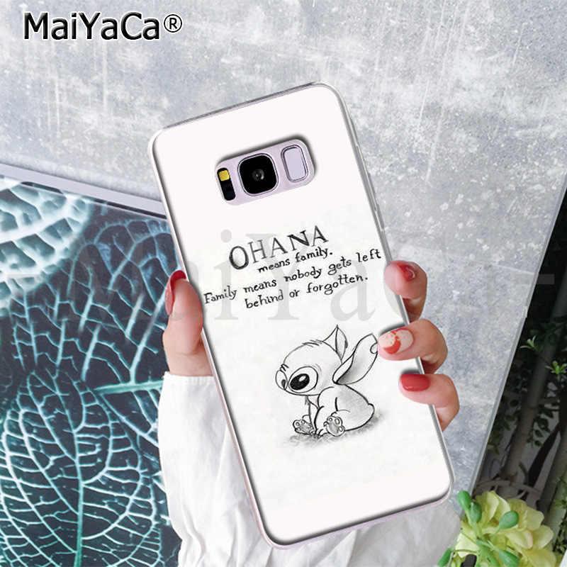 MaiYaCa dễ thương Stitch Ohana Thời Trang Điện Thoại Trường Hợp đối Với Samsung S9 S9 cộng với S5 S6 S6edge S6plus S7 S7edge S8 S8plus