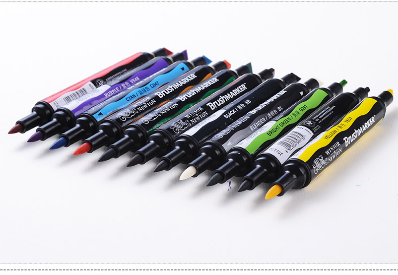 Winsor Newton BrushMarker Soft Tip 6/12 Colors Marker Pens Double Headed  Twin Markers Alcohol Based Brush Tip Skin Tone Markers