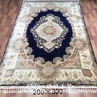7'x10' Handmade Persian Rugs Oriental Silk Rug For Living Room Carpets