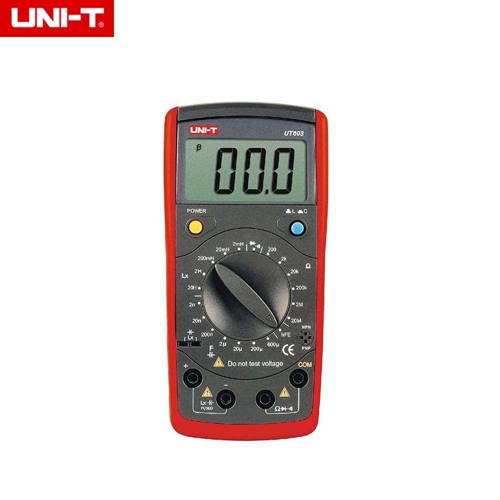 UNI-T UT603 multimeter Professional measuring resistance / inductor / capacitor / diode / transistor / Continuity Buzzer m39010 08 br22ks inductor mr li