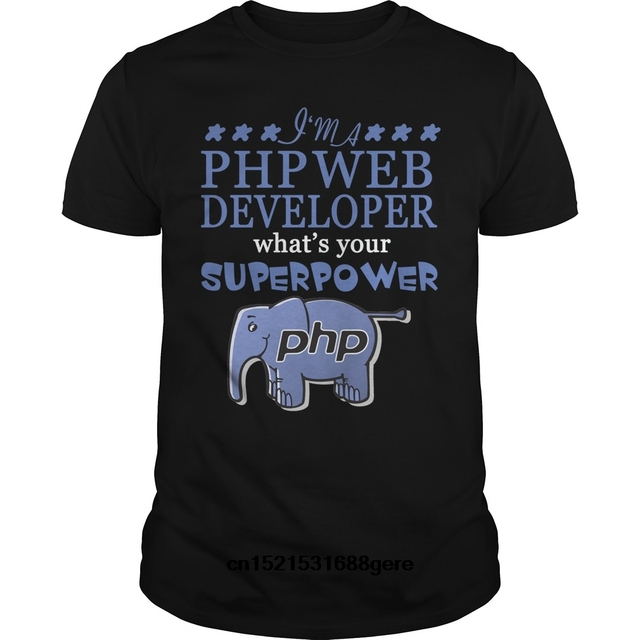 Gildan funny t shirt php web developer tshirt men tee-in T-Shirts