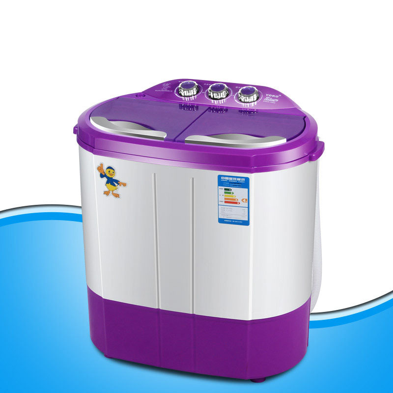 New two tub 4.4kgs portable washer machine washer and dryer machine mini laundry machine clothes washer compact washer image