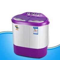 Novo dois banheira 4.4kgs máquina de lavar portátil máquina de lavar e máquina de secar roupa mini máquina de lavar roupa lavadora compacta|Máquinas de lavar roupa| |  -