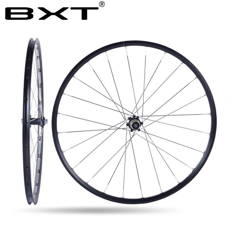 BXT 27.5er 29er MTB Mountain Bike Sale Montate 4 Cuscinetto del Mozzo Della Bici di Ricambio Ruota In Lega di Alluminio 29 Set 28 Fori ruote in carbonio Ruote bicicletta