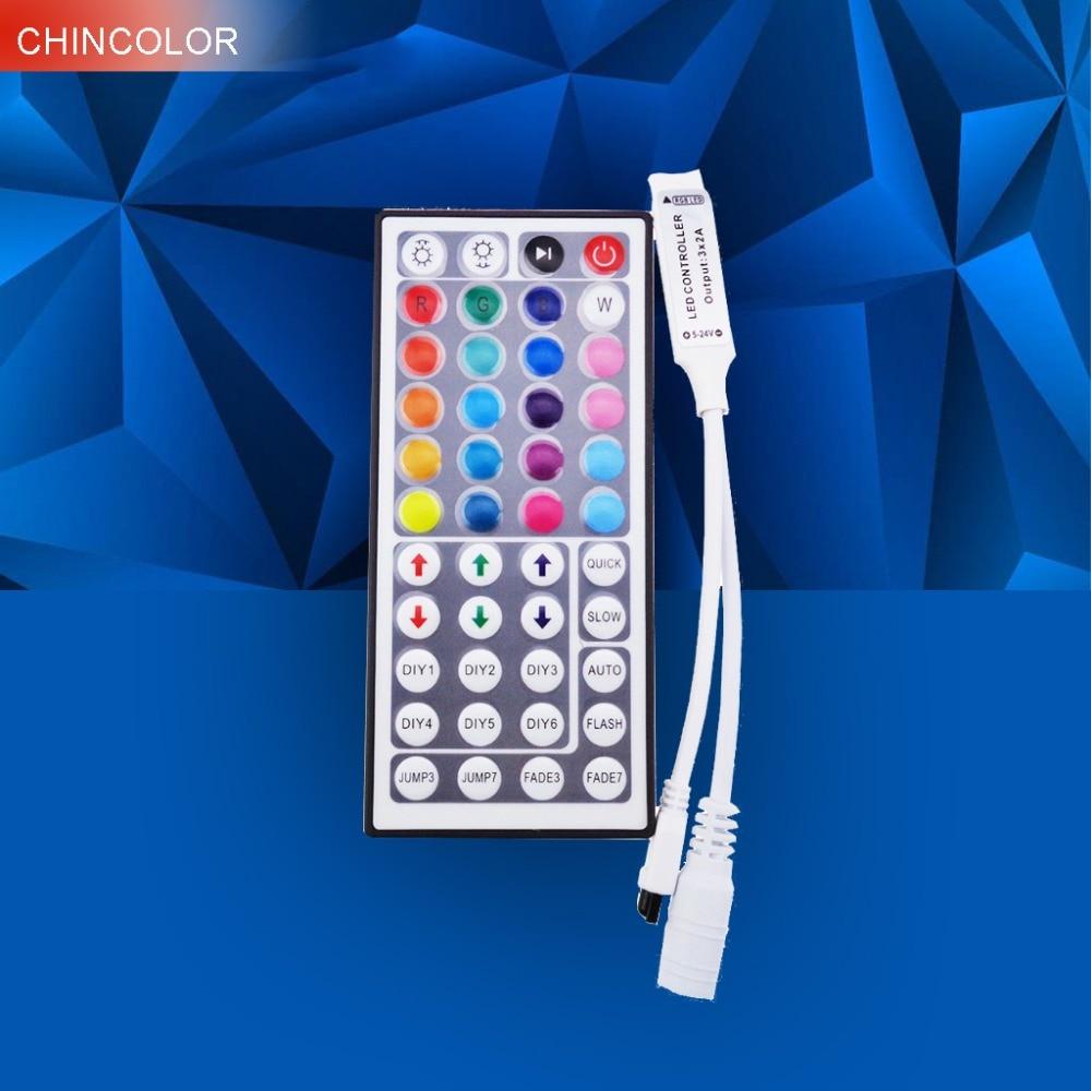 RGB led řadič 44 Keys Mini DC12V 6A s IR dálkovým ovládáním - Osvětlovací příslušenství