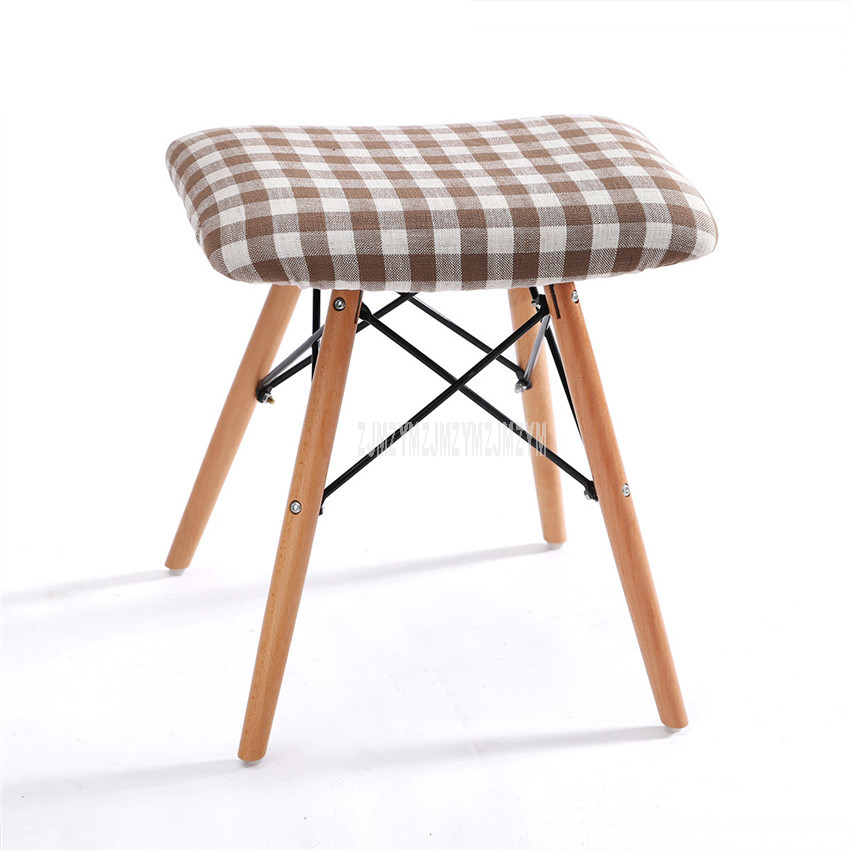 Solid Wood Leg Dining Bench Stool