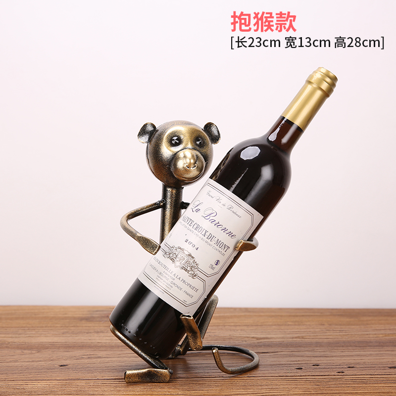 European simulation animal wine stand decoration / creative home cabinet plant bottle rack