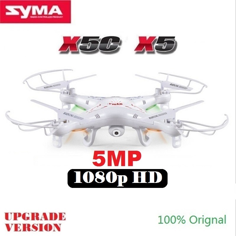 Syma x5 x5c rc drone con cámara de 5mp hd 4ch 6-axis helicóptero teledirigido de