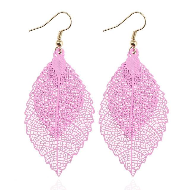 Купить 2 пары винтажных листьев lzhlq висячие серьги роскошные богемные
