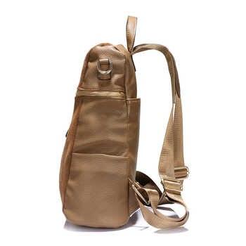 LOVEVOOK vintage women backpack nubuck leather PU school backpacks for teenage girls large capacity shoulder bags for women 2019
