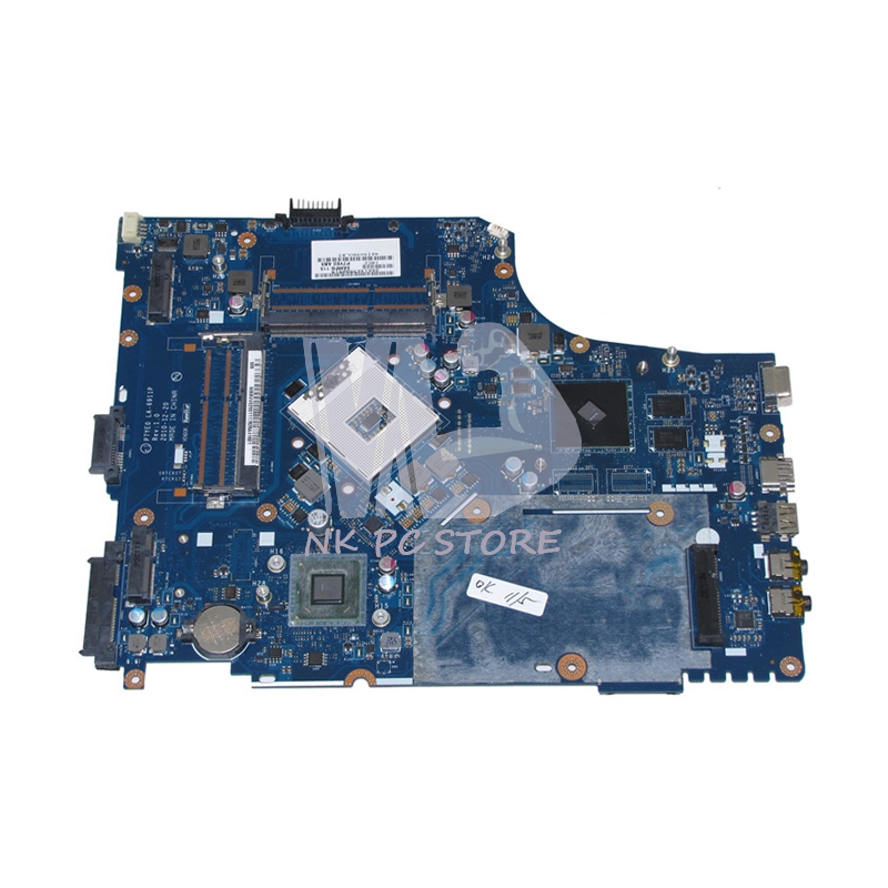 NOKOTION Laptop Motherboard For Acer Aspire 7750 7750G MAIN BOARD P7YE0 LA-6911P MBBVV02001 HM65 DDR3 With Video Card