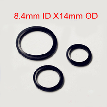100 PCS Rubber Full Package Type Metal & Bonded Oil Drain Washer Seal Anti-rust Gasket O Ring Fit M8