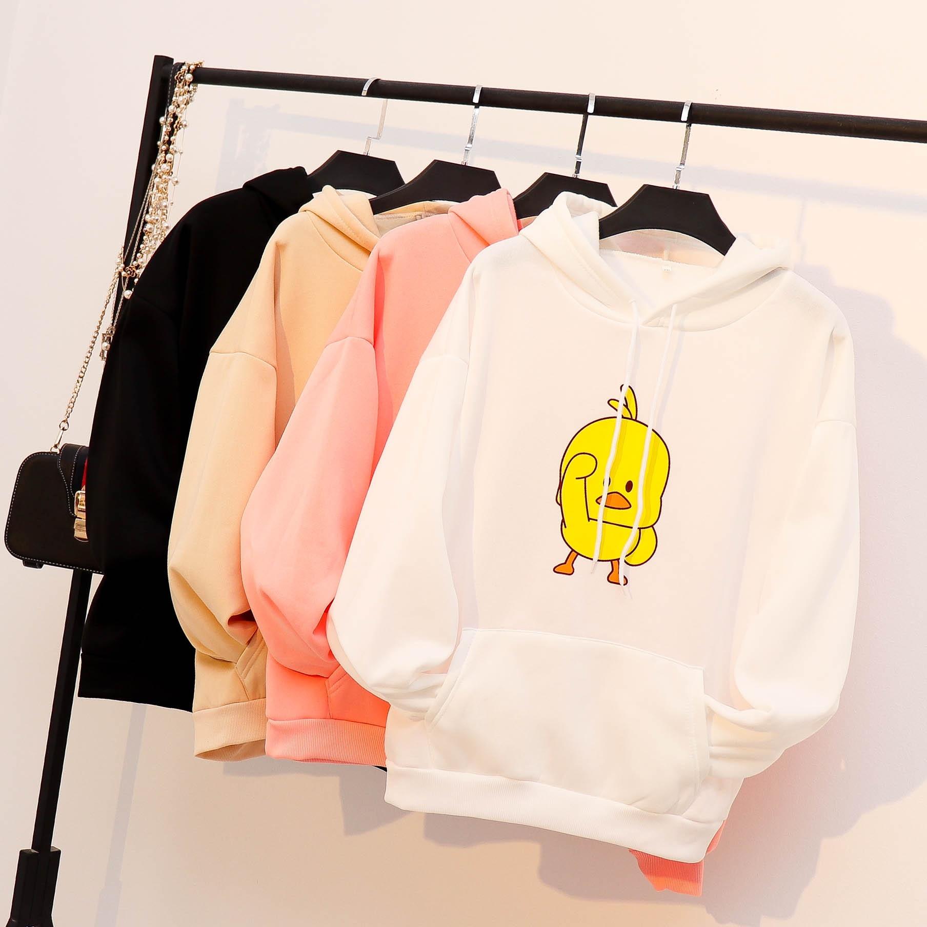 2019 Women Hoodies Casual Letters Printing Sweatshirt Women  Streetwear  Kawaii  Pink Hoodie  Clothes