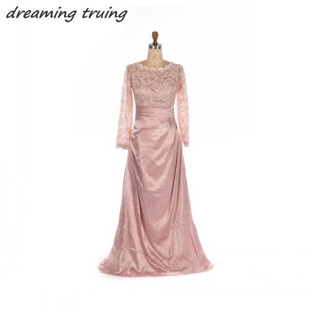 Imágenes reales de Las Señoras Vestido Formal Árabe Dubai Rosa de ...