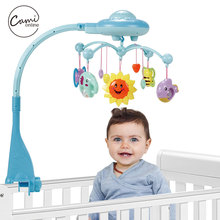 Baby Toys Crib Mobile Musical Flashing Bed Bell Animal Rattles Hand Ring Star Rotating Bracket Projecting Newborn Christmas Gift