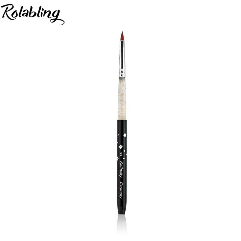 Wholesale 10PCS/LOT GREAT QUALITY 100% kolinsky sable size 2# black acrylic nail brush for nail art.beautiful nail art цена и фото