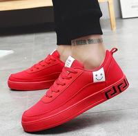 Hot Women Vulcanized Shoes Black Red Sneakers Ladies Lace up Casual Breathable Walking Canvas Shoes Graffiti Flat