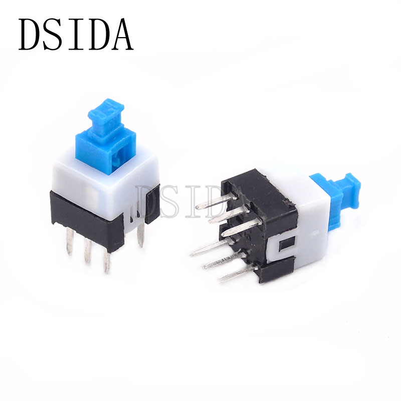 Integrated Circuits Flight Tracker 8.5mm*8.5mm Push Tactile Power Micro Switch Self Lock On/off 8.5x8.5mm