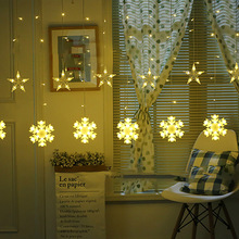 2.5M 138LEDS Christmas Star and snowflake Curtain Lights Indoor Wedding Fairy For Holiday Party Decoration