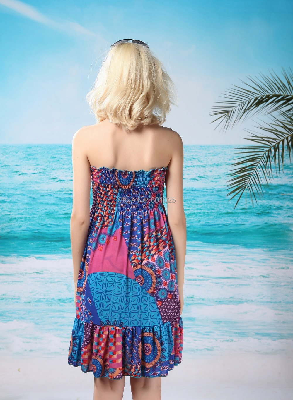 e51e0a027a8db tube top Beach coverup dress Beach Bare Tube Dress Multi Floral ...