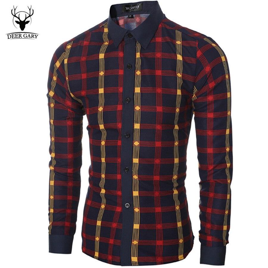 Shirt design for man 2016 - Classic Design 2016 New Men Shirt Brand Fashion Slim Fit Plaid Men S Shirts Casual Long Sleeve