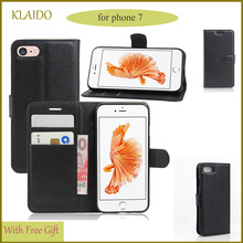 leather wallet case for iphone 7 plus flip Phone Bag Shell Sleeve Mobile Phone Accessories And Parts KLAIDO Brand