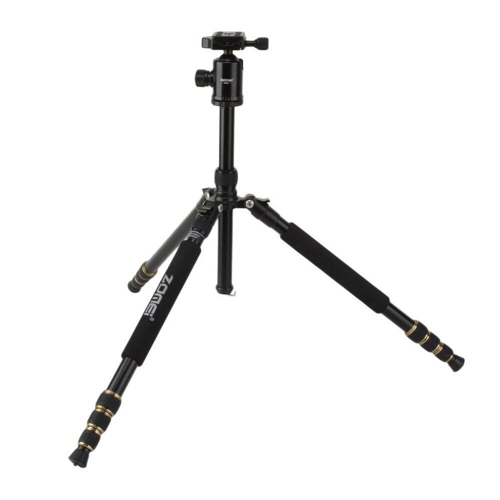 ZOMEI путешествия Портативный Профессиональный штатив монопод 360 градусов Поворотный шаровой головкой для DSLR Камера SLR Камера Z688