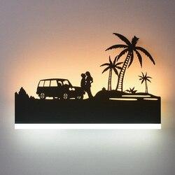 Twórczy led nowoczesny minimalistyczny salon na ścianę w korytarzu kinkiet do ogrzania lampka nocna do sypialni osobowości